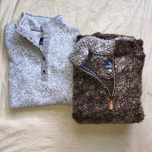 2 Simply Southern Sweaters Teddy Bear and Thermal
